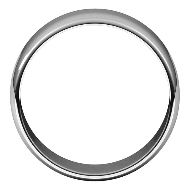 Sterling Silver 8 mm Half Round Light Wedding Band