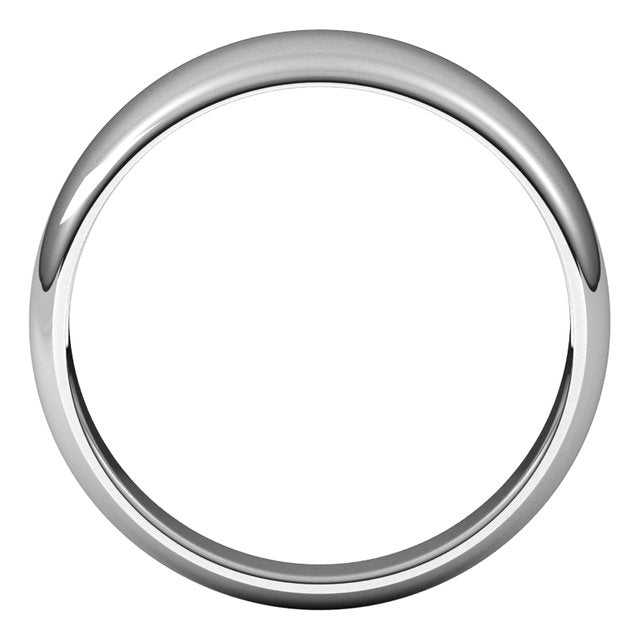 Sterling Silver 7 mm Half Round Tapered Wedding Band