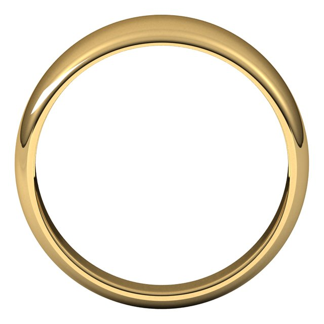 10K Yellow Gold 8 mm Half Round Tapered Wedding Band
