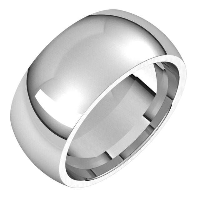 Sterling Silver 9 mm Half Round Comfort Fit Wedding Band