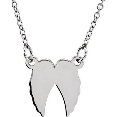 "Sterling Silver Tiny Posh® Angel Wings 16-18"" Necklace"