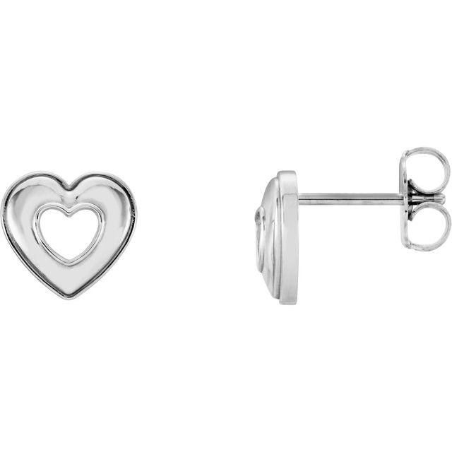 Continuum Sterling Silver Heart Earrings