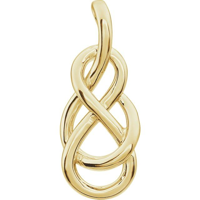14K Yellow Teardrop Knot Pendant