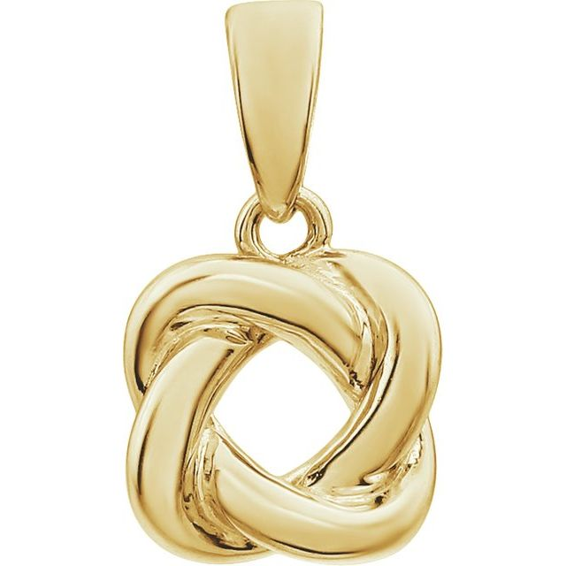 14K Yellow Knot Design Pendant