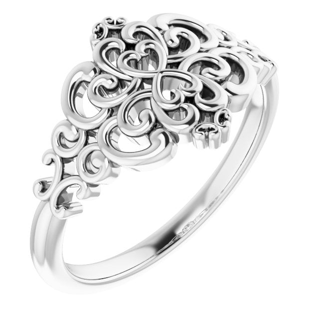 Sterling Silver Vintage-Inspired Ring
