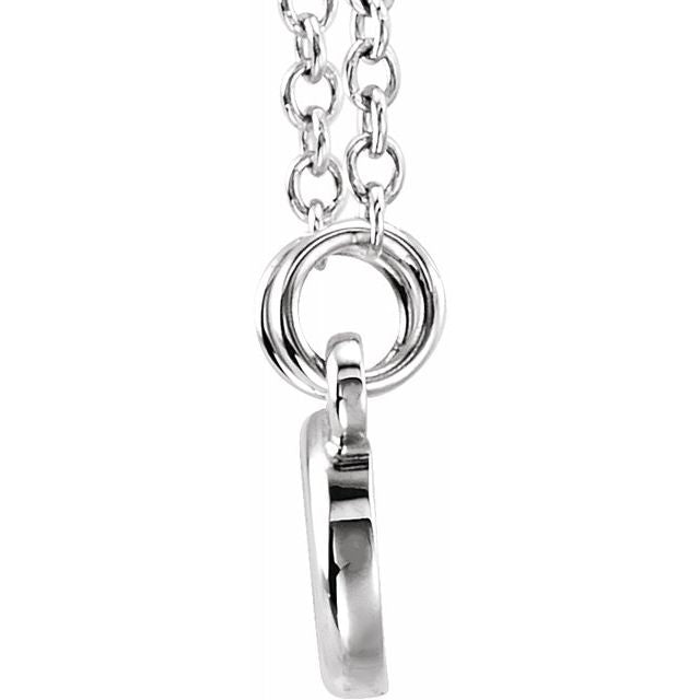 "Sterling Silver Tiny Posh® Infinity-Inspired 16-18"" Necklace"