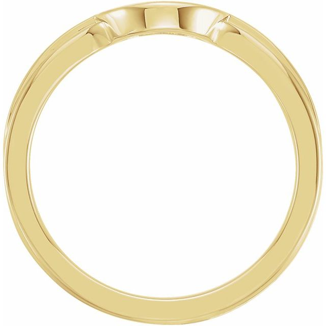 14K Yellow 10x9 mm Oval Signet Ring