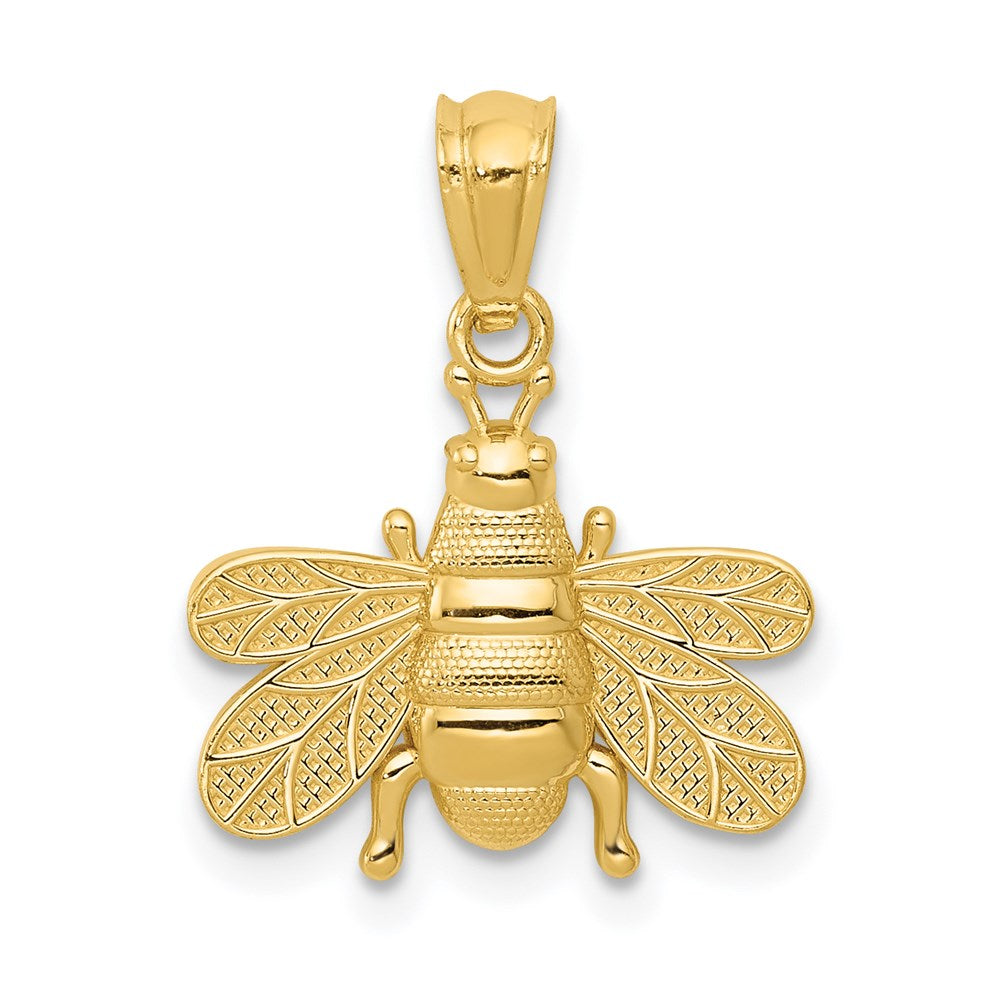 14k Polished Bee Pendant - TreasureFineJeweler