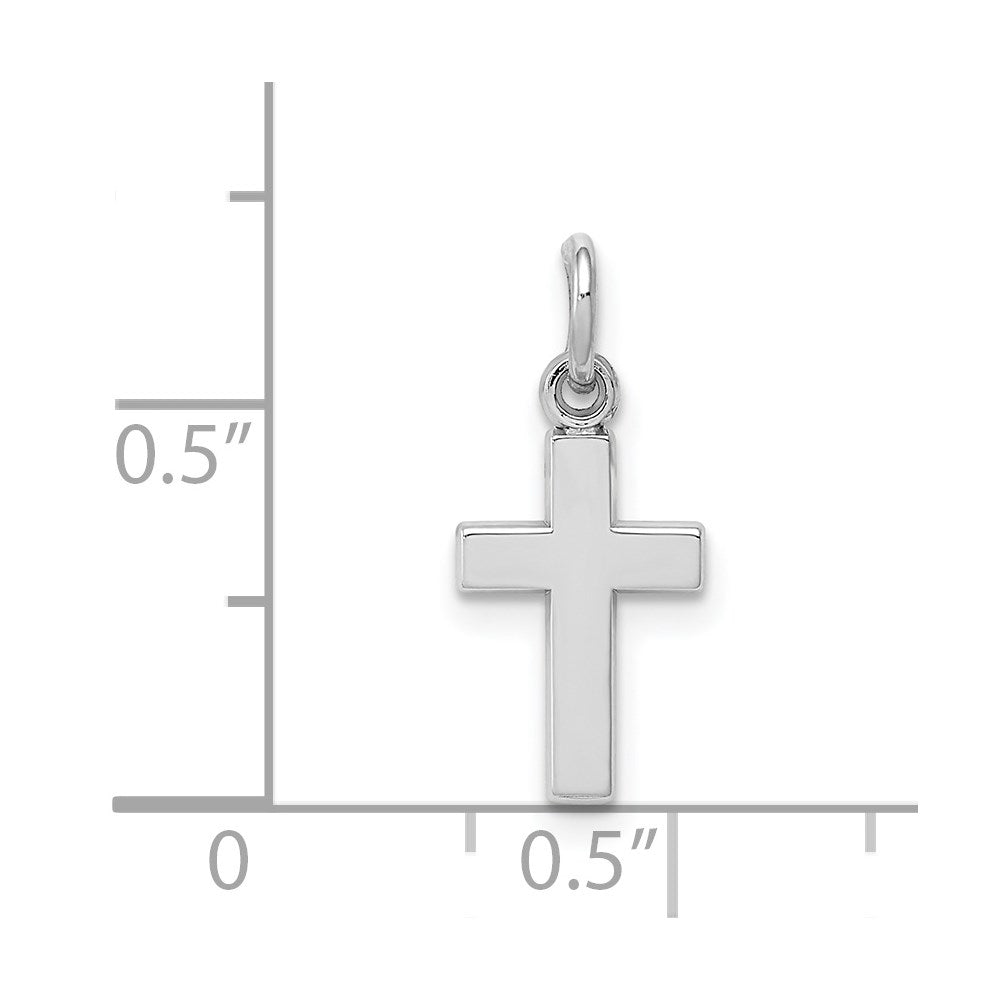 14k White Gold Cross Charm - TreasureFineJeweler