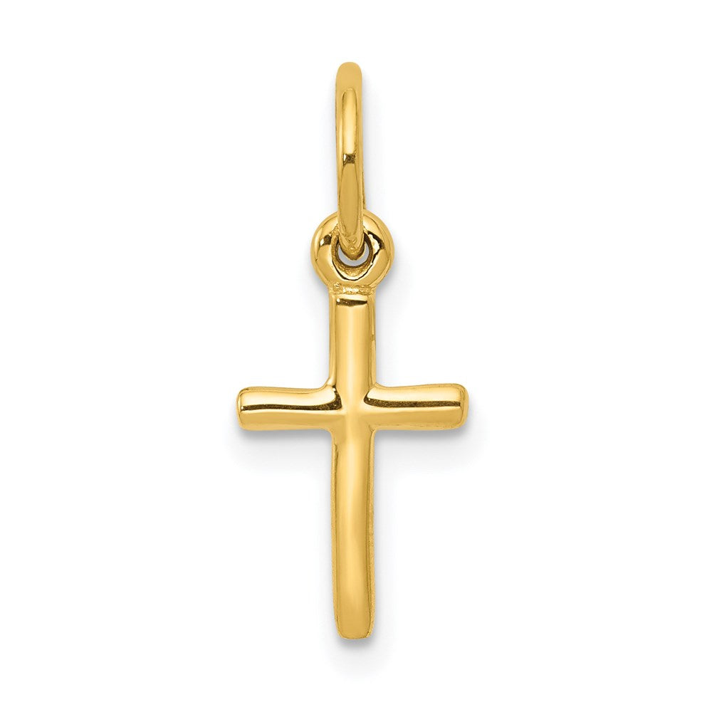 14k Small Cross Charm - TreasureFineJeweler