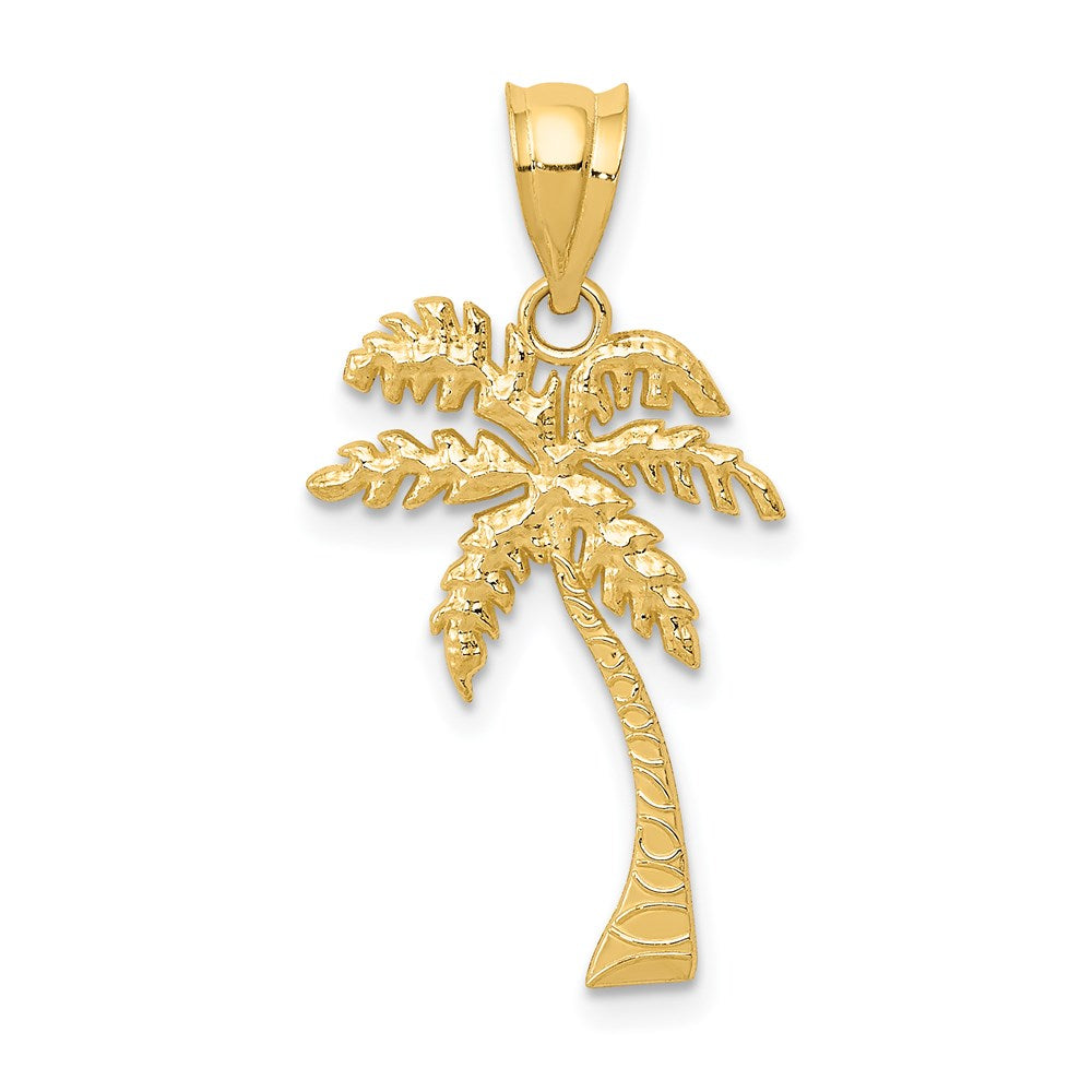 14k Mini Palm Tree Pendant - TreasureFineJeweler