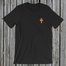 Load image into Gallery viewer, Embroidered Magic Mushroom T-Shirt Black