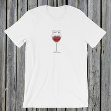 Load image into Gallery viewer, Glass of Wine Tshirt Tee RetroCat White