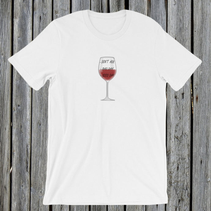 Glass of Wine Tshirt Tee RetroCat White