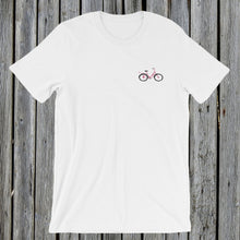 Load image into Gallery viewer, Embroidered Pink Bicycle T-Shirt