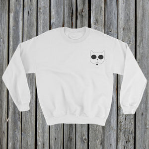 Embroidered RetroCat Sweatshirt