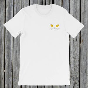 Embroidered Yellow Eyes RetroCat T-Shirt