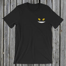 Load image into Gallery viewer, Embroidered Yellow Eyes RetroCat T-Shirt