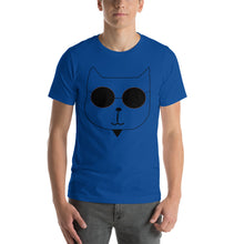 Load image into Gallery viewer, RetroCat T-Shirt Blue