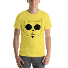 Load image into Gallery viewer, RetroCat T-Shirt yellow