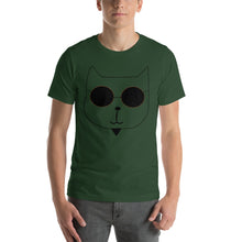 Load image into Gallery viewer, RetroCat T-Shirt green