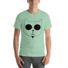 Load image into Gallery viewer, RetroCat T-Shirt light green