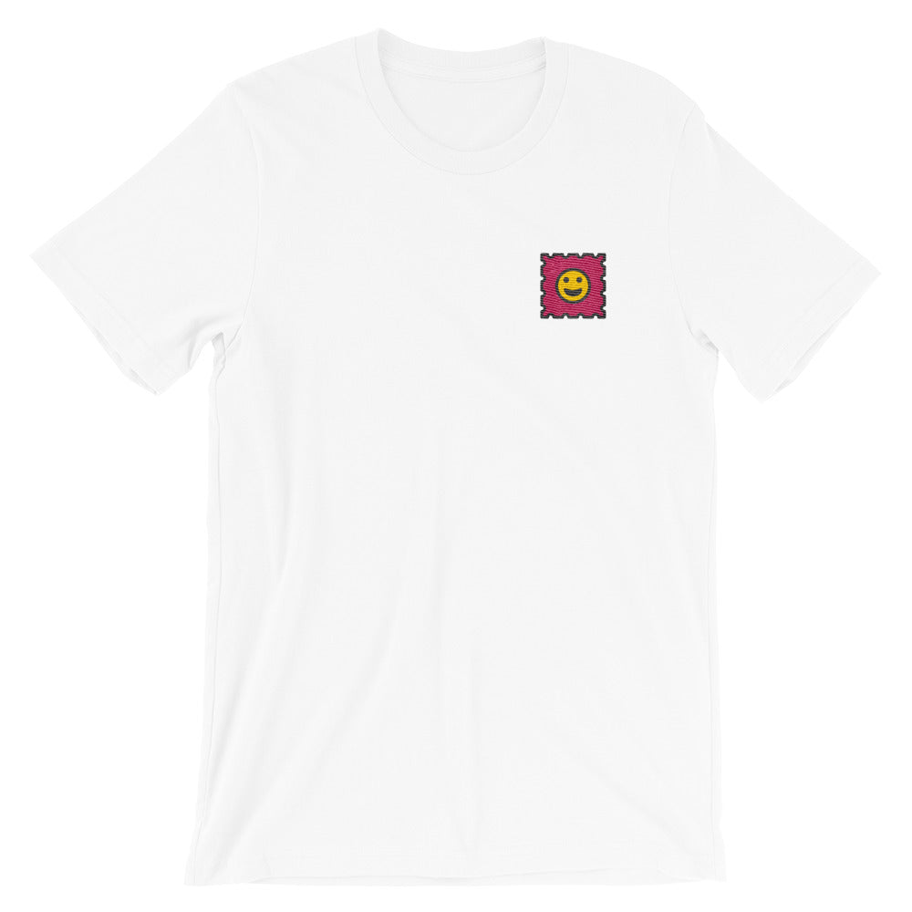 Embroidered LSD tshirt white