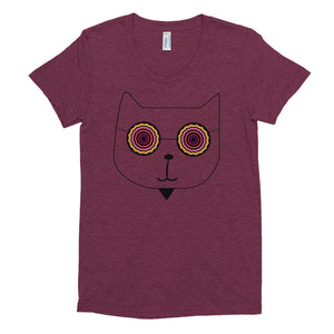 Women's Crew Neck RetroCat T-shirt