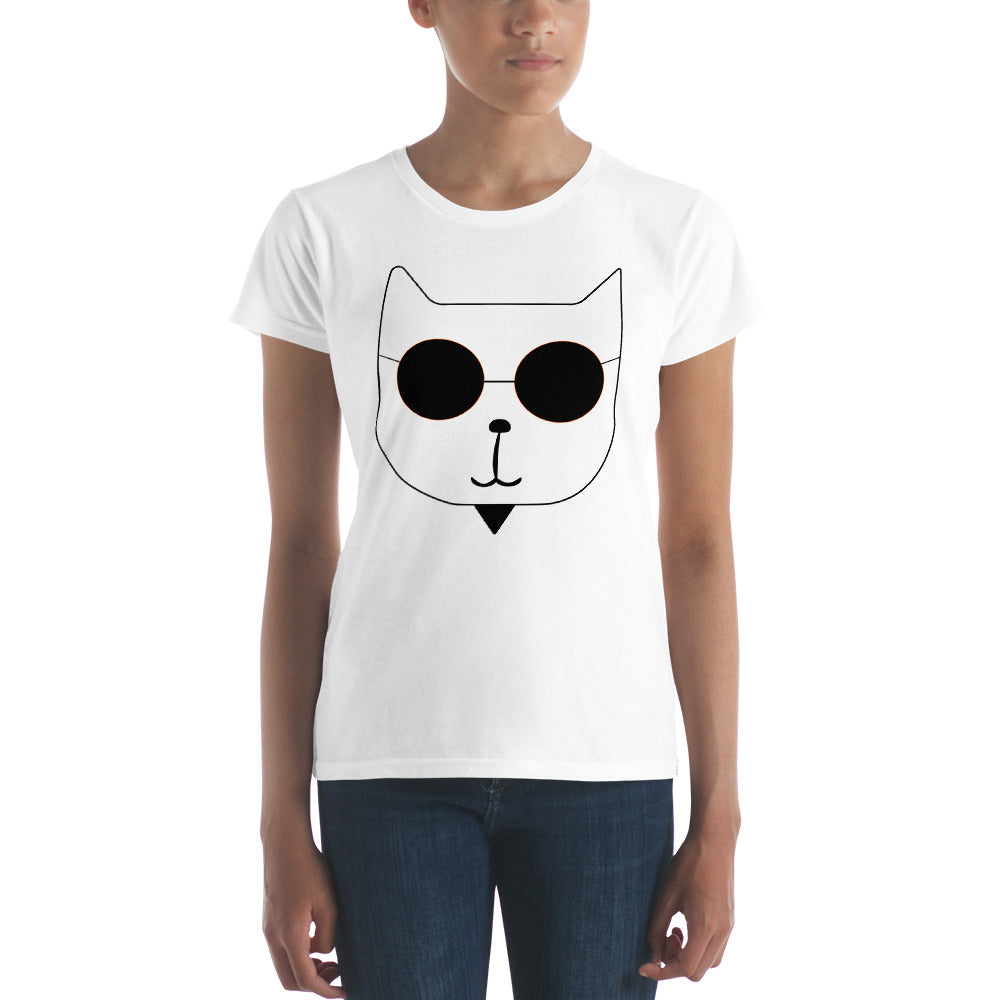 Women's short RetroCat sleeve t-shirt