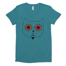 Load image into Gallery viewer, Women's Crew Neck RetroCat T-shirt