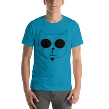 Load image into Gallery viewer, RetroCat T-Shirt aqua