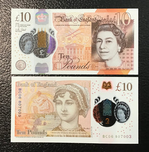 Great Britain P-NEW 2017 Polymer Plastic 10 Pounds-Crisp Uncirculated