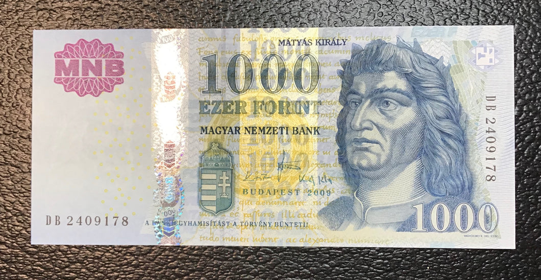 Hungary P-197a  2009  1000 Forint - Crisp Uncirculated