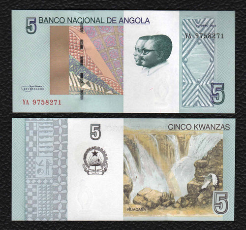 Angola P-NEW  2012(2017)  5 Kwanzas - Crisp Uncirculated