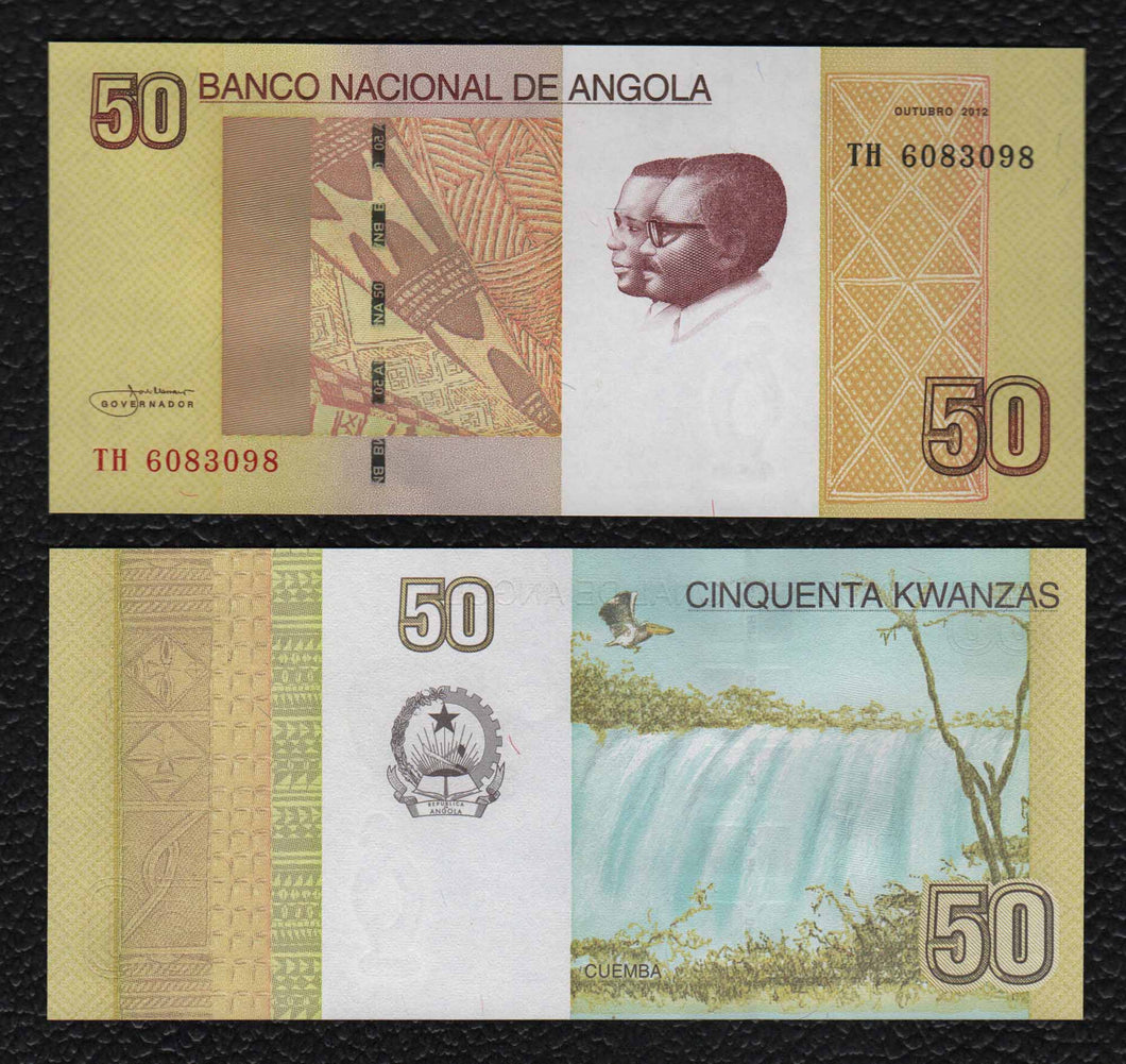 Angola P-152 October 2012 50 Kwanzas - Crisp Uncirculated