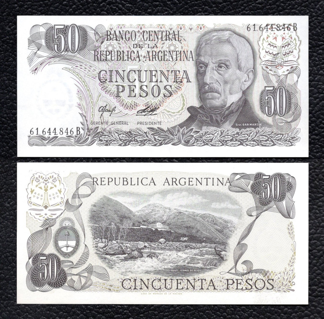 Argentina P-301a ND(1976-78) 50 Pesos - Crisp Uncirculated