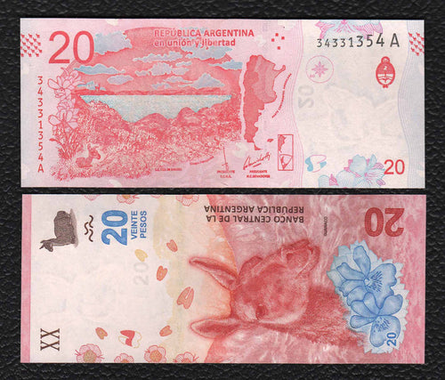 Argentina P-NEW 2017 20 Pesos - Crisp Uncirculated