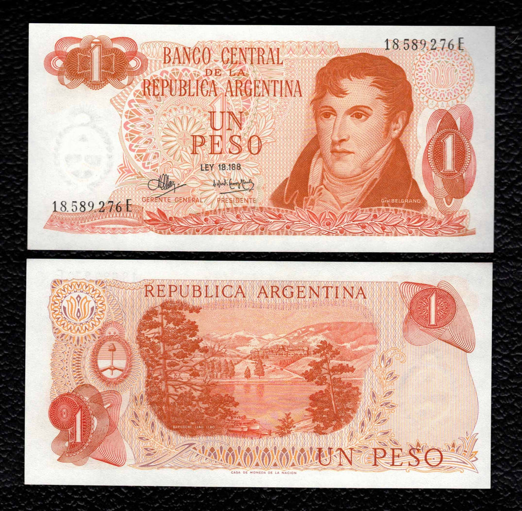 Argentina P-287 ND(1970-73) 1 Peso - Crisp Uncirculated