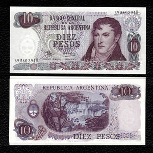 Argentina P-289 ND(1970-73) 10 Pesos - Crisp Uncirculated
