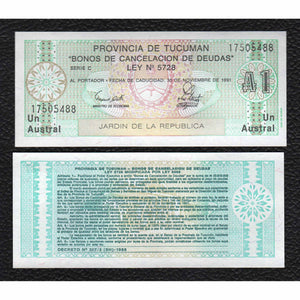 Argentina P-S2711b ND(1971-73) 1 Austral - Crisp Uncirculated