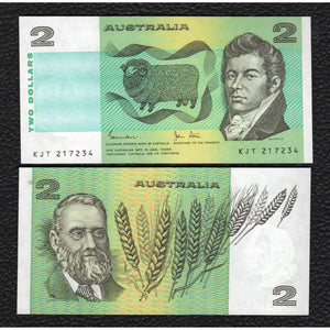 Australia P-43d (1983) 2 Dollars - Crisp Uncirculated