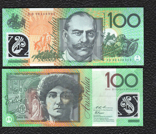 Australia P-55a (1996) 100 Dollars - Almost  Uncirculated