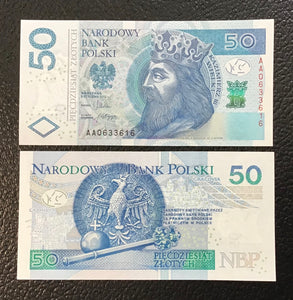 Poland P-185 2012 50 Zlotych - Crisp Uncirculated