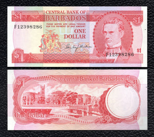 Barbados P-29  ND(1973) 1 Dollar- Crisp Uncirculated
