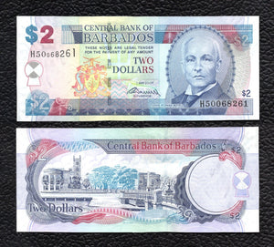 Barbados P- 66b 1.5.2007(2009 Worroll sign.)  2 Dollars- Crisp Uncirculated
