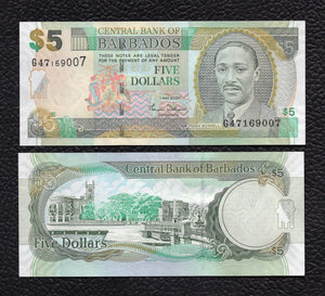 Barbados P-67a 1.5.2007 5 Dollars - Crisp Uncirculated