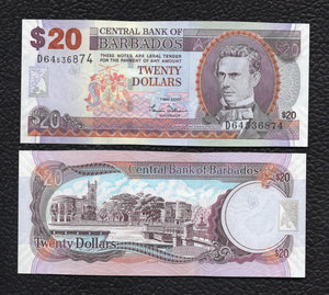 Barbados P-69a 1.5.2007 20 Dollars - Crisp uncirculated