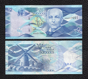 Barbados P-73 2.5.2013 2 Dollars - Crisp Uncirculated