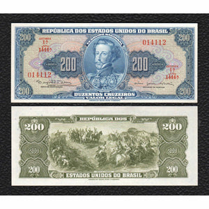 Brazil P-171c ND(1964) 200 Cruzeiros - Crisp Uncirculated