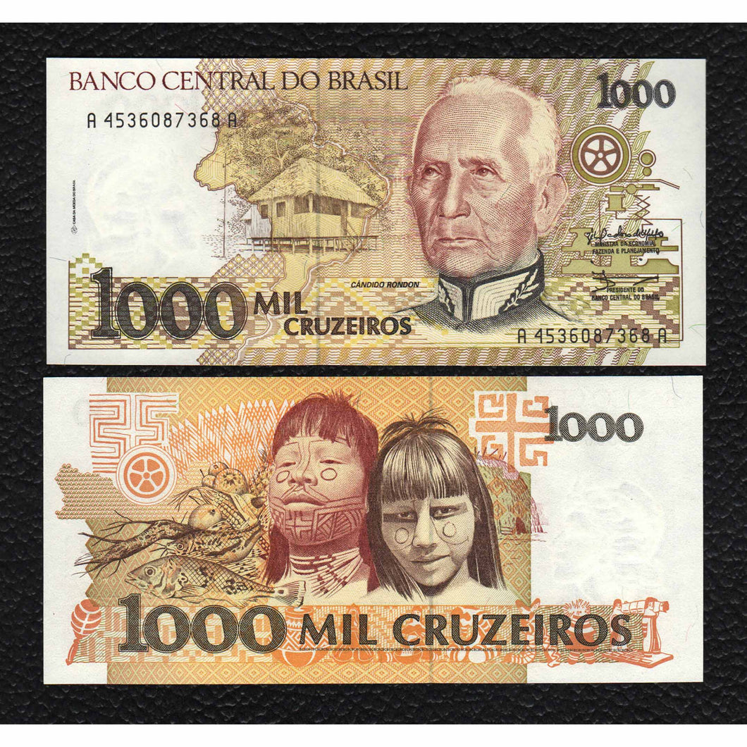 Brazil P-231b  ND(19890)  1000 Cruzeiros - Crisp Uncirculated